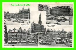 BRUXELLES, BELGIQUE - GRAND'PLACE - GROOTE MARKT - 5 MULTIVUES - EDIT. A. DURR ET FILS - - Places, Squares