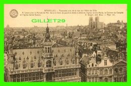 BRUXELLES, BELGIQUE - PANORAMA PRIS DE LA TOUR DE L'HÔTEL DE VILLE - LA MAISON DU ROI - A, DESAIX . - Multi-vues, Vues Panoramiques
