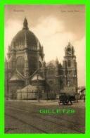 BRUXELLES, BELGIQUE - EGLISE SAINTE MARIE - ANIMÉE - PUBLICITÉ, FARINE LACTÉE RENAUX - NELS - - Monuments, édifices