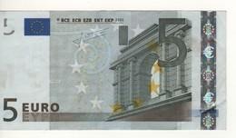 """5 EURO  """"P"""" Olanda     Firma Trichet     E 004 A5      Variante 'A'   /  Circulated - EURO"""