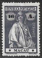 Macao Macau – 1913 Ceres Type 16 Avos - Nuevos