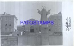 115712 ARGENTINA MAR DEL PLATA BUILDING CHURCH & MONUMENT AÑO 1945 PHOTO NO POSTAL POSTCARD - Fotografia