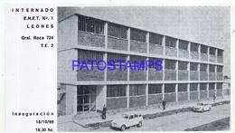 115717 ARGENTINA CORDOBA LEONES INTERNADO E.N.E.T Nº 1 INAUGURACION 1969 PHOTO NO POSTAL POSTCARD - Fotografia