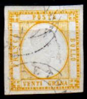 Napoli-F00080 - 1861 - Sassone N. 23 (o) Used - Privo Di Difetti Occulti - - Napoli