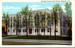North Dakota Bismarck Burleigh County Court House Curteich - Bismark