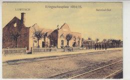 Lowitsch - Bahnhof-Süd - Um 1915 / Hinten Haftstellen - Polonia