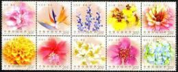 2012 TAIWAN FLOWERS 10V*3.5 - 1945-... Republic Of China