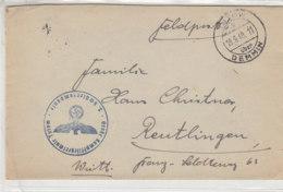 Feldpost Von Der Kampffliegerschule TUTOW über DEMMIN 18.9.40 - Germany