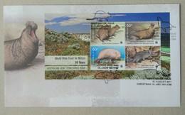 Australian Territories 2011. WWF 50 Years. FDC W Miniature Sheet - FDC