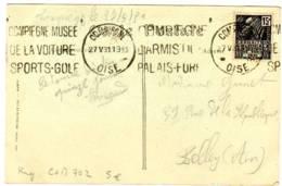 COMPIEGNE 60 Oise KRAG N° DREYFUS COM702 1931,  Expo Coloniale 15c N°270, Carte Eglise St Antoine - Oblitérations Mécaniques (flammes)