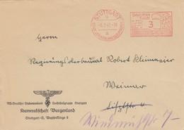 Freistempel 1941: Stuttgart, Kameradschaft /Studentenbund Burgenland Nach Weimar - Allemagne