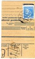 Germany(Third Reich)/ Czechoslovakia[Bohemia-Moravia]- Parcel Card Part From Turnov [29.11.1943] To Vselibice [1.12] - Germany