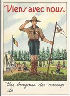 """Scouts - Scoutisme - """"Viens Avec Nous"""" - """"Un Bonjour Du Camp De ...."""" - Scoutisme"""