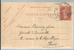 CARTE  LETTRE 1915 NEUILLY - Enteros Postales