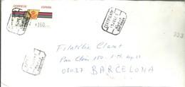 CARTA ETIQUETA 1993  CERTIFICADO  SANTANDER - 1931-Hoy: 2ª República - ... Juan Carlos I