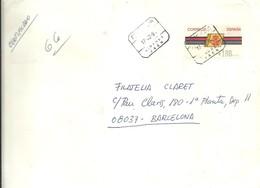 CARTA ETIQUETA 1993  CERTIFICADO  JAEN      SOBRE GRANDE 20X24 - 1931-Hoy: 2ª República - ... Juan Carlos I