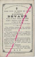 En 1901 Bailleul 59) Pierre DEVAUX Ep Adeline LECLERE 80 Ans - Décès