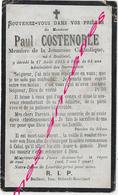 En 1915 Bailleul (59) Paul COSTENOBLE Membre De La Jeunesse Catholique 24 Ans - Décès