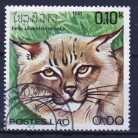 Laos 1981 Single 10c Stamp From The Wild Cats  Set. - Laos