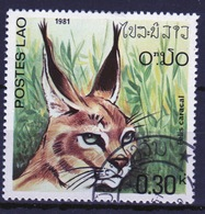 Laos 1981 Single 30c Stamp From The Wild Cats  Set. - Laos