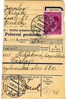 Germany(Third Reich)/ Czechoslovakia[Bohemia-Moravia]- Parcel Card Part From Nove Benatky [9.12.1943] To Caslav [10.12] - Germany