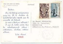SAINT PIERRE ET MIQUELON - Carte Postale Publicitaire PLASMARINE IONYL 1958 - St.Pierre Et Miquelon