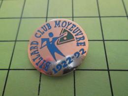 918c Pin's Pins / Beau Et Rare : THEME : SPORTS / BILLARD CLUB MOYEUVRE 1922 1992 - Billiards