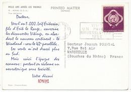 NATIONS UNIES - Carte Postale Publicitaire IONYL 1958 - New-York - Siège De L'ONU