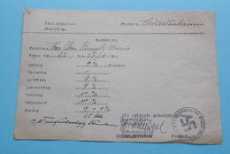 """Stad Mechelen Bezetting / Kwartierambt """" WERKBLATT """" 1943 & 44 > Kommandantur Mechelen (zie Foto's Voor Detail) 2 St. ! - Documenten"""