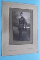 Soldaat / Milicien ( 19 Op Muts > Te Identificeren ) Fotograaf Ferdinand BAETE Te GAND / GENT ! - Guerre, Militaire
