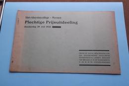 St. ALOYSIUSCOLLEGE > MEENEN ( Plechtige Prijsuitdeeling ) Donderdag 28 Juli 1932 ( Zie Foto's ) ! - Diplômes & Bulletins Scolaires