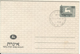 Israel FDC Aerogramme Tel Aviv - Yafo 1-7-1955 - Airmail