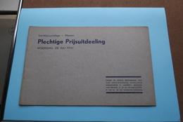 St. ALOYSIUSCOLLEGE > MEENEN ( Plechtige Prijsuitdeeling ) Woensdag 28 Juli 1937 ( Zie Foto's ) ! - Diplômes & Bulletins Scolaires