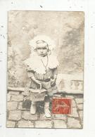 Cp , Carte Photo Limousin , Chatellerault ,enfant ,petite Fille , Petit Panier VICHY ,écrite - Kinder