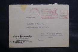 ALLEMAGNE - Affranchissement Mécanique De Todthau Sur Enveloppe Commerciale En 1947 Pour La France - L 34675 - Zone AAS
