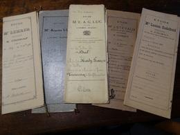 5 Actes Notarié ( Région Chimay). - Manuscrits
