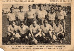 80 AMIENS ( Somme ) AMIENS ATHLETIQUE CLUB    SAISON  1946-1947 - Soccer
