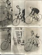 Cyclisme, Coureurs - 6 Photos Anciennes De Cartes Postales - Goullet, Collins, Egg, Rutt, Comes, Dubroc - Ciclismo