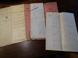 5 Actes Notarié ( Région Chimay - Couvin). - Manuscritos