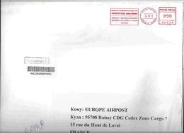Ema Francotyp Postalia _ Lettre Recommandée Pour La France - Aéroport D'Orenbourg - 1992-.... Föderation