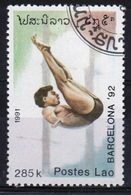 Laos 1991 Single 285K Stamp From The Olympic Games 3rd Issue  Set. - Laos