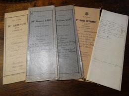 5 Actes Notarié ( Région Chimay ). - Manuscrits