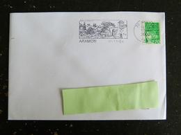 ARAMON - GARD - FLAMME BORDS DU RHONE PATRIMOINE SUR MARIANNE LUQUET - Mechanical Postmarks (Advertisement)