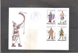 FDC Corée Du Nord - Costumes De Guerriers  - Complete Set (to See) - Corée Du Nord