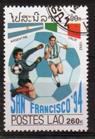 Laos 1992 Single 260K Stamp From The World Cup Football Championships Set. - Laos