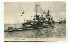 CPA  Bateau De Guerre :  Le  CIGOGNE    A  VOIR  !!!!!!! - Oorlog