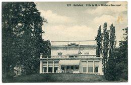 CPA - Carte Postale - Belgique - Boitsfort - Villa De M. Le Ministre Beernaert (B9371) - Watermaal-Bosvoorde - Watermael-Boitsfort