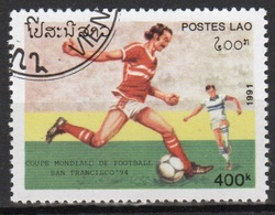 Laos 1991 Single 4000K Stamp From The World Cup Football Championships 1st Issue Set. - Laos