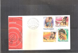 FDC Papua New Guinea - Musical Instruments - 1979 - Complete Set (to See) - Musique