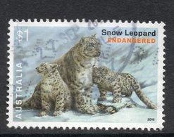 2016 AUSTRALIA SNOW LEOPARD $1 VERY FINE POSTALLY USED Sheet STAMP - Oblitérés